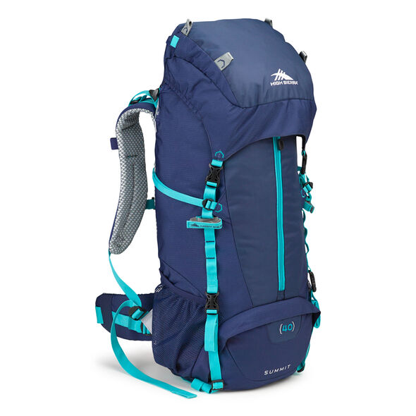 High Sierra Classic 2 Series Summit 40W Frame Pack in the color True Navy/Tropic Teal.