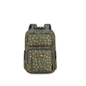 Life Is Good by High Sierra Mindie Backpack in the color Fatigue Green/Slate Grey Nature.