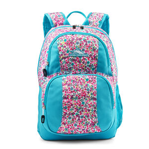 Pinova Backpack in the color Prairie Floral/Tropic Teal.