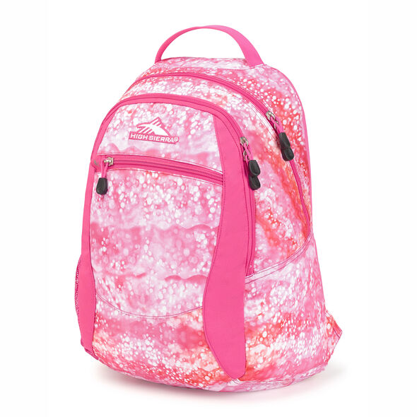 High Sierra Curve Backpack in the color Effervescent/Flamingo.