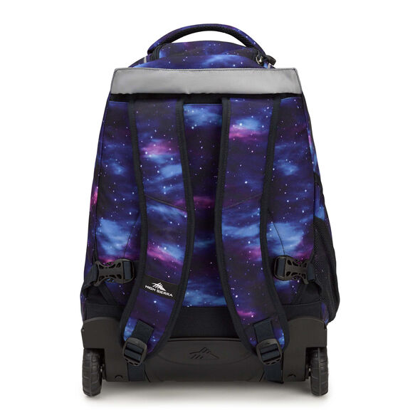 High Sierra Freewheel Wheeled Backpack in the color Cosmos/Midnight Blue.