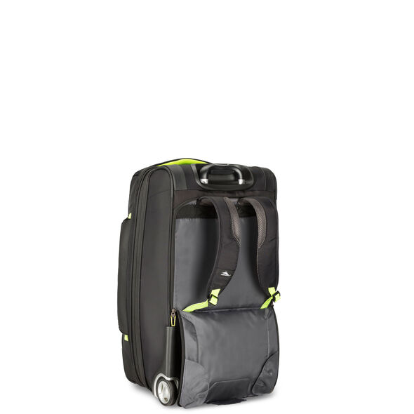 "High Sierra AT8 26"" Wheeled Duffel Upright in the color Black Zest."
