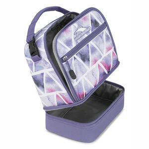 Stacked Compartment Lunch Bag in the color Dreamscape/Purple Smoke.