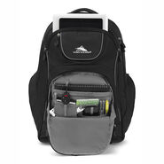 High Sierra Powerglide Wheeled Backpack in the color Black/Black.