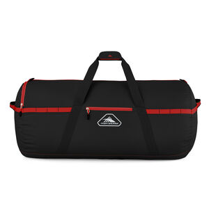 """Packed Cargo Duffles 36"""" Large Duffel in the color Black/Crimson Red."""