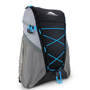 High Sierra Pack-N-Go 2 18L Sport Backpack in the color Black/Charcoal/Pool.