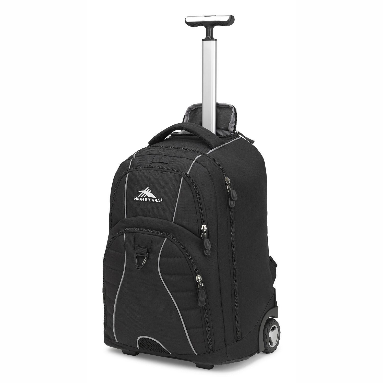 abde9b38d9 High Sierra Freewheel Wheeled Backpack in the color Black.