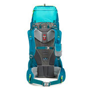 High Sierra Tech 2 Series Womens Titan 55 Frame Pack in the color Sea/Tropic Teal/Zest.