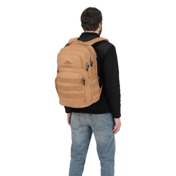 High Sierra Rownan Backpack in the color Tan Canvas.