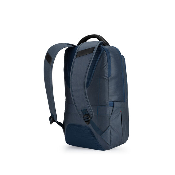 High Sierra Business ProSlim USB Backpack in the color Rustic Blue Heather/Chili Pepper.