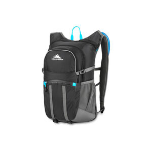 High Sierra HydraHike 20L Pack in the color Black/Slate/Pool.