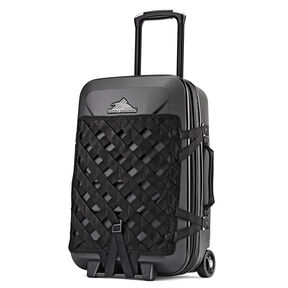 "High Sierra OTC Hardside 22"" Upright in the color Black/Black/Black."