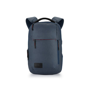Business ProSlim USB Backpack in the color Rustic Blue Heather/Chili Pepper.