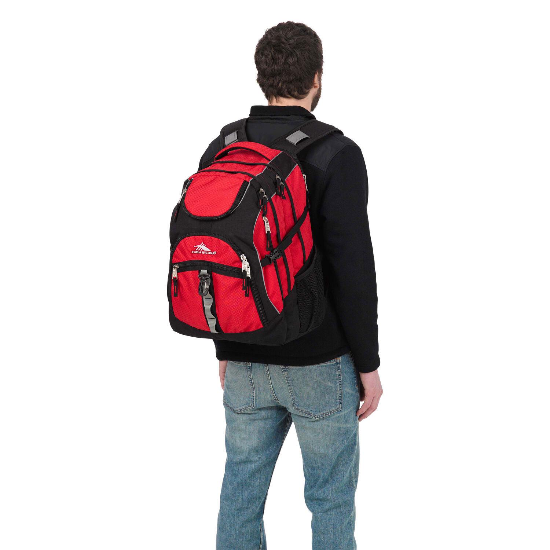 High Sierra Access Backpack The 6 In 1 Secret Pouch Bag Organiser Bgo 15 Color Crimson Black