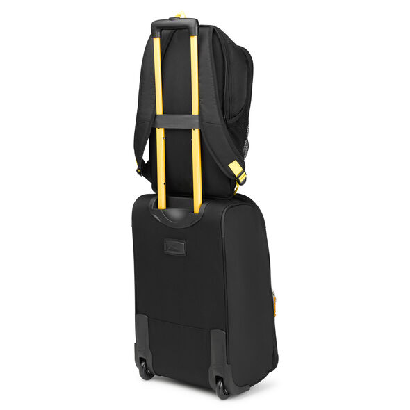 High Sierra Pathway Carry-On Wheeled Upright With Removable Daypack in the color Black/Gold.