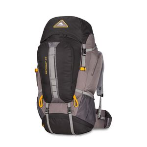 Pathway 70L Pack in the color Black/Slate/Gold.