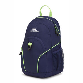 High Sierra Mini Loop Backpack in the color True Navy/Lime.