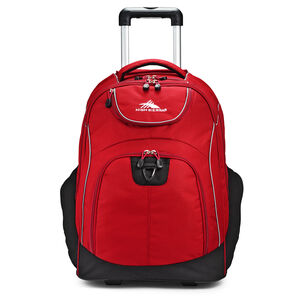 Powerglide Wheeled Backpack in the color Chili Pepper/Black.