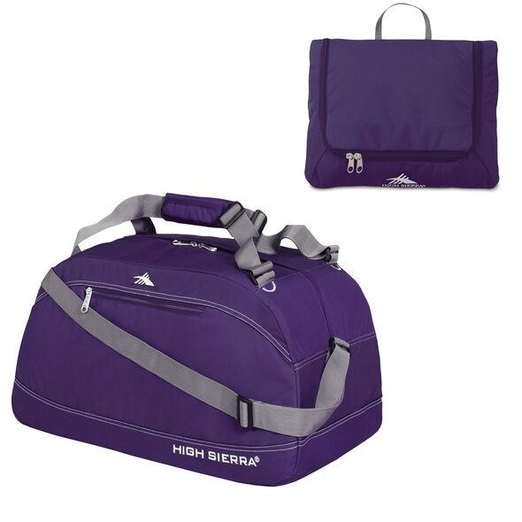 """High Sierra 24"""" Pack-N-Go Duffel in the color Deep Purple."""