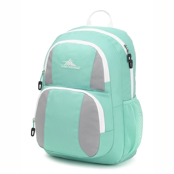 High Sierra Pinova Backpack in the color Aquamarine/Ash/White.