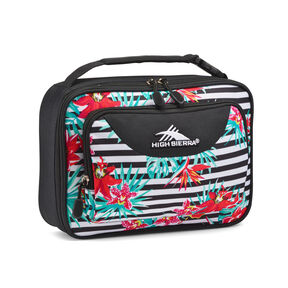 High Sierra Single Compartment Lunch Bag in the color Tropical Stripe/Black.
