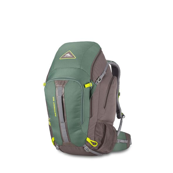 High Sierra Pathway 50L Pack in the color Pine/Slate/Chartreuse.