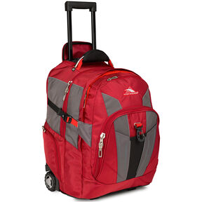 High Sierra XBT Wheeled Daypack in the color Carmine/Redline/Black.