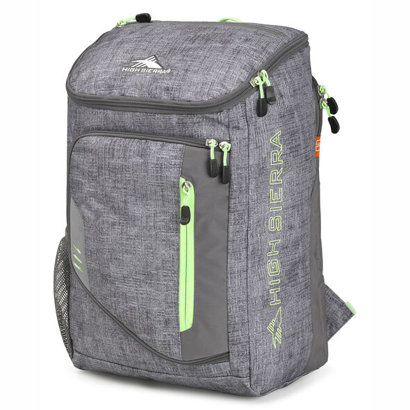 High Sierra Poblano Backpack in the color Woolly Weave/Slate/Lime.