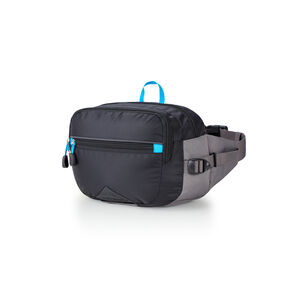 High Sierra HydraHike 3L Waist Pack in the color Black/Slate/Pool.