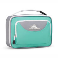 High Sierra Single Compartment Lunch Bag in the color Aquamarine/Ash/White.