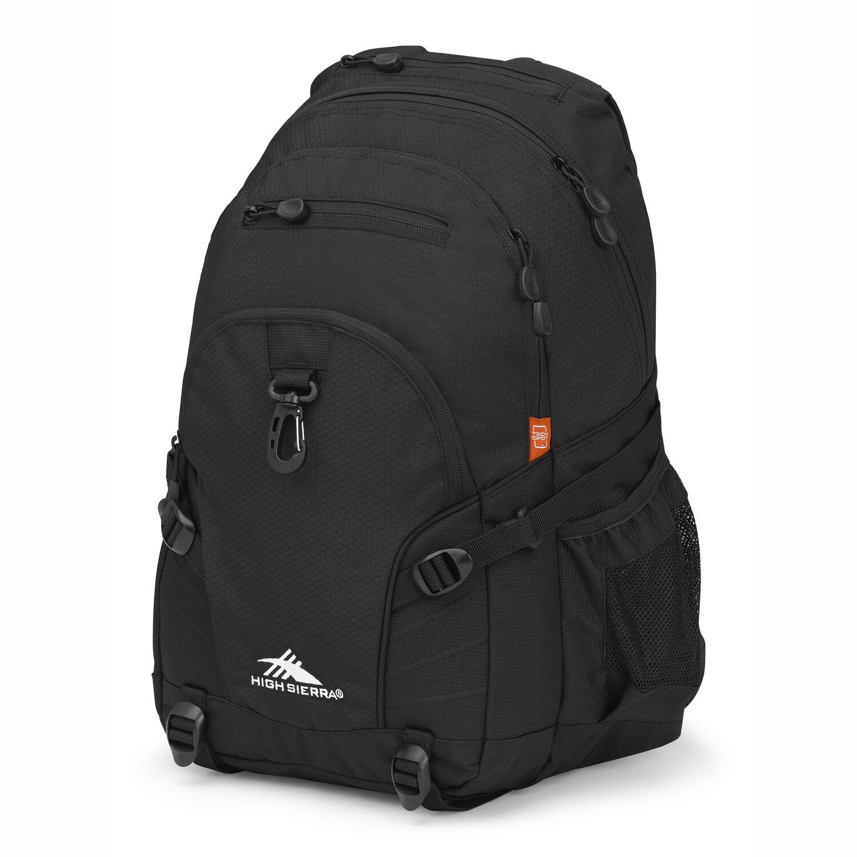 High Sierra Loop Backpack in the color Black. c5cc15592b