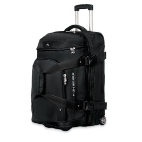 "High Sierra AT3 26"" Drop Bottom Wheeled Duffel in the color Black."