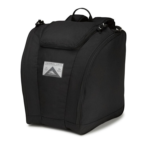 High Sierra Trapezoid Boot Bag in the color Black/Black.