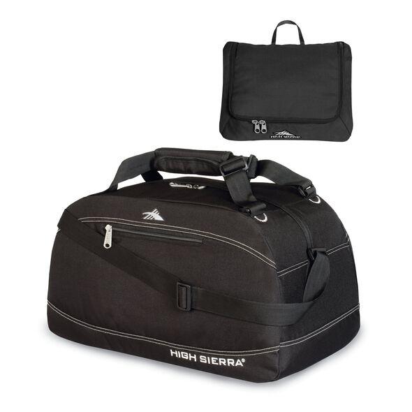 """High Sierra 20"""" Pack-N-Go Duffel in the color Black."""
