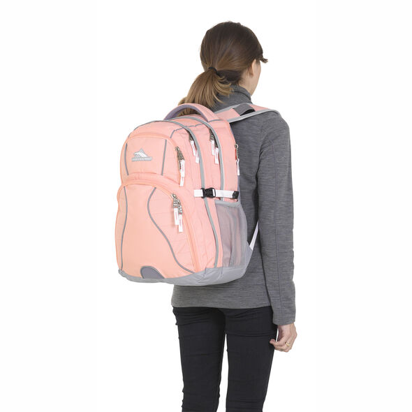 High Sierra Swerve Backpack in the color Sand Pink/Ash/White.