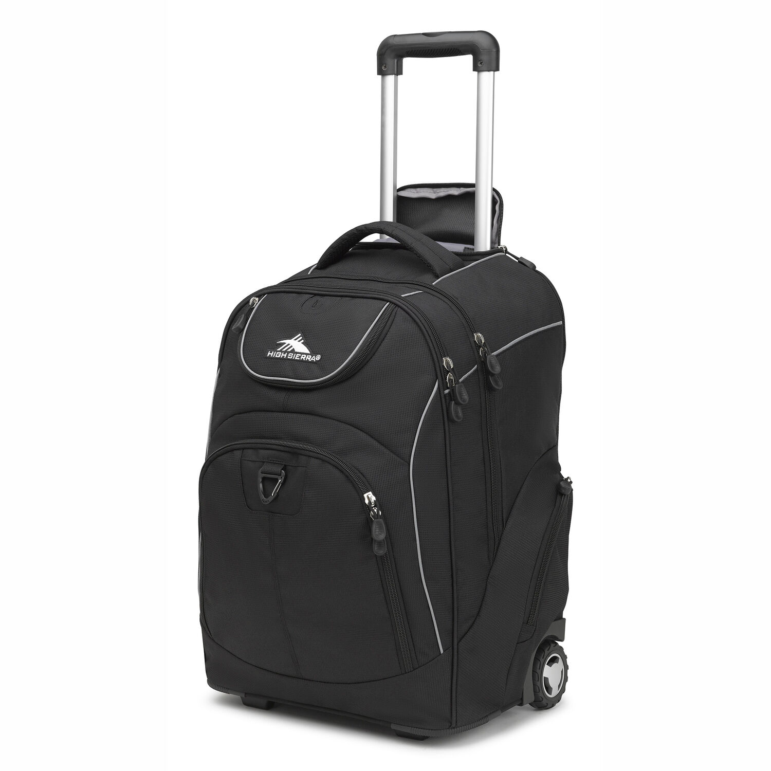 66f3466417 High Sierra Powerglide Wheeled Backpack in the color Black.