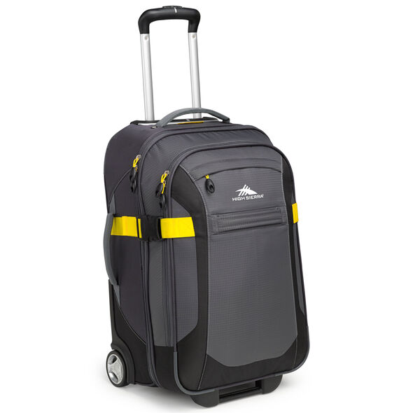 """High Sierra Sportour 22"""" Carry-On Upright in the color Grey/Mercury/Black."""