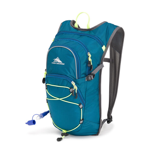 High Sierra HydraHike 8L Pack in the color Lagoon/Slate/Zest.