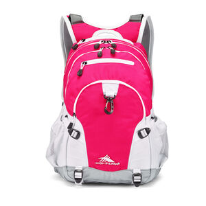 Loop Backpack in the color Pink Punch/White/Ash.