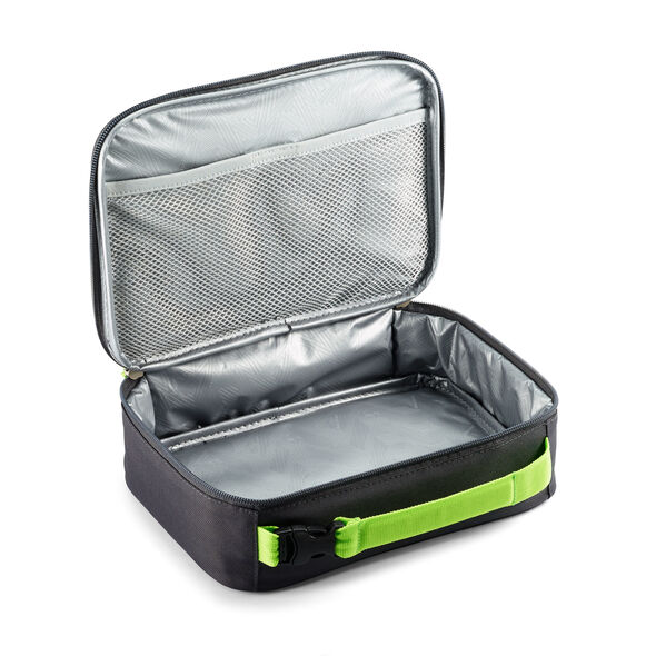 High Sierra Single Compartment Lunch Bag in the color Light Wave/Mercury/Lime.