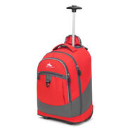 High Sierra Chaser Wheeled Backpack in the color Crimson/Mercury.