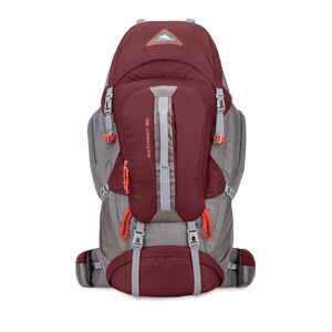 Pathway 90L Pack in the color Cranberry/Slate/Redrock.
