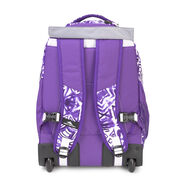 High Sierra Chaser Wheeled Backpack in the color Purple Shibori.