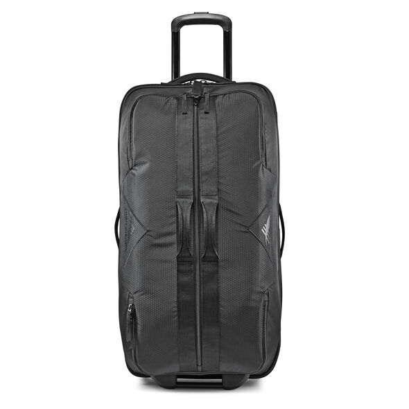 "High Sierra Dells Canyon 34"" Wheeled Duffel in the color Black/Black."