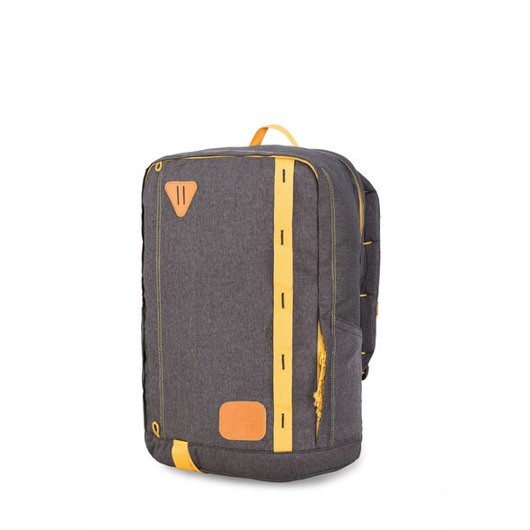 High Sierra HS78 Square Backpack in the color Black/Gold.