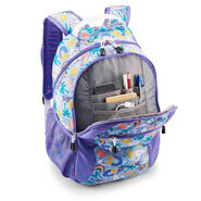 High Sierra Curve Backpack in the color Pool Party/Lavender/White.