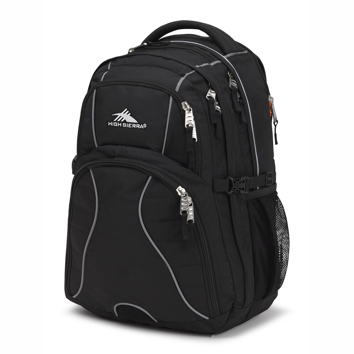 8cdc25ecae6 High Sierra Swerve Backpack in the color Black.