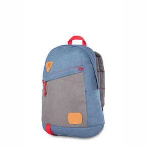 High Sierra HS78 Tear Drop Backpack in the color Dusty Blue/Slate/Crimson.