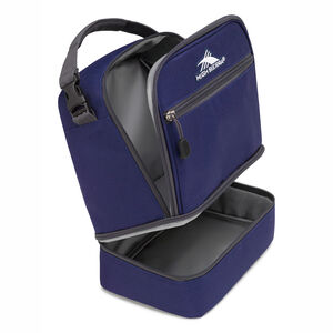 Stacked Compartment Lunch Bag in the color True Navy/Mercury.