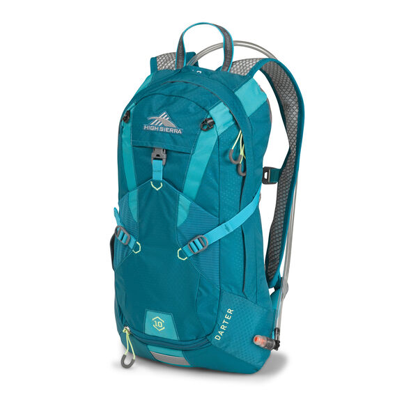 High Sierra Darter Hydration Pack in the color Sea/ Tropic Teal/ Zest.